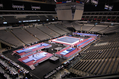 The women training at the American Airlines Center