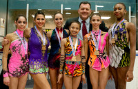 The U.S. Team with USA Gymnastics President Steve Penny