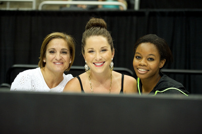 Mary Lou Retton, Carly Patterson and Gabby Douglas