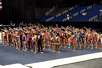 Special routine by acro athletes and Acro Army