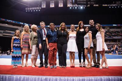 Members of the 2015 USA Gymnastics Hall of Fame Class