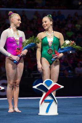 Alyssa Baumann and MyKayla Skinner