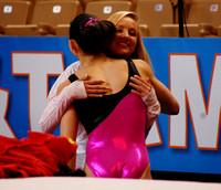 Nastia Liukin gives Kyla Ross a hug