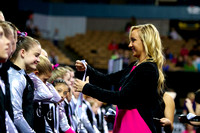 Nastia Liukin hands out medals to the participants