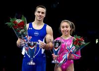 Jake Dalton and Katelyn Ohashi, 2013 AT&T American Cup Champions