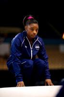 Simone Biles during warm up
