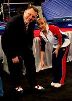 USA Gymnastics President Steve Penny and Nastia Liukin