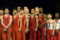 The USA men's team getting their team gold medal