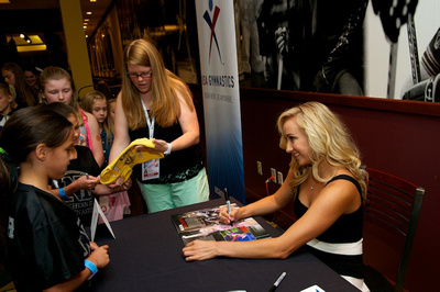 Nastia Liukin signs autographs