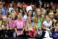 Fans wait to meet the gymnasts