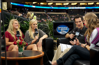 Sam Pezsek gives and interview on Around the Gym with Nastia Liukin and John Roethlisberger