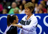 Lexie Priessman with her coach