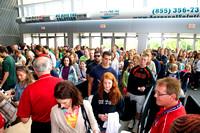 Fans enter the Sears Centre