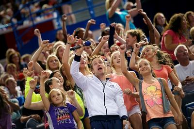 John Macready and fans
