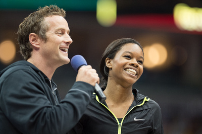 John Macready and Gabby Douglas