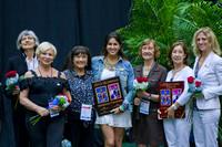 Olga Kutuzova and Julie Zetlin with the Hall of Fame Members