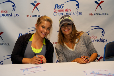 Shawn Johnson and Alicia Sacramone