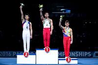 Junior Men's Pommel Horse medalists