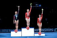 Junior Women's Floor Exercise medalists