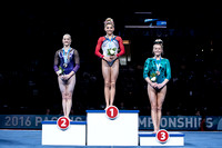 Uneven bars medalists