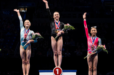 Top three in the all-around