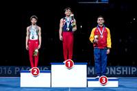 Junior Men's Floor Exercise medalists