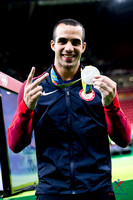 Danell Leyva won two silver medals on the final day of competition