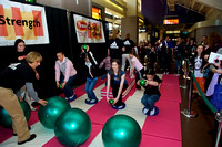Tyson Fitness Challenge on the concourse