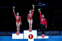Junior women's all-around medalists