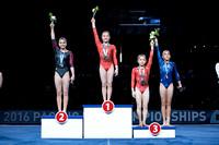 Junior Women's Uneven Bars medalists