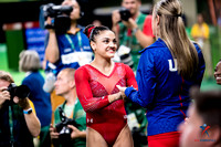Laurie Hernandez and her coach