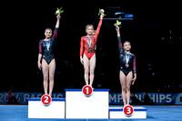 Junior Women's Balance Beam medalists