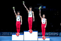 Junior Men's High Bar medalists