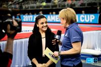 Laurie Hernandez is interviewed on NBC