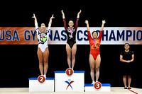 Senior Women's Double Mini Medalists