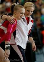 Bailie Key with her coach
