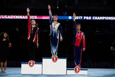 17-18 Pommel Horse Medalists