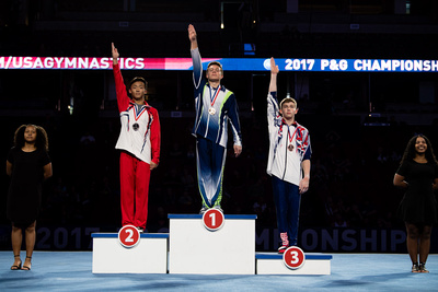 17-18 Parallel Bars Medalists