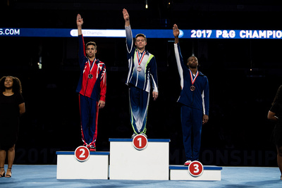 17-18 High Bar Medalists
