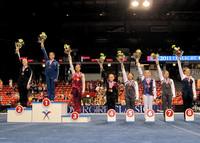 Senior all-around awards podium