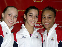 Rebecca Bross, Alexandra Raisman and Kytra Hunter