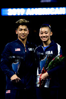 Yul Moldauer and Leanne Wong