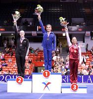 All-Around medalists - Aly Raisman (1st), Chellsie Memmel (2nd), Sabrina Vega (3rd)