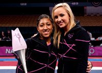 Nastia Liukin and Kassandra Lopez, 2nd place in All-Around