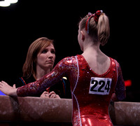 Mary Maxwell talks to her coach