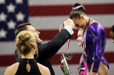 Lexie Priessman receives her gold medal