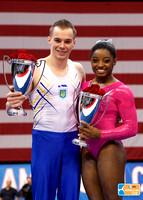 Oleg Verniaiev (UKR) and Simone Biles (USA)