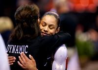 Sabrina Vega with her coach