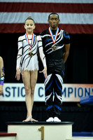 13-19 Mixed pair medalists