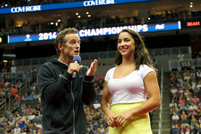 John Macready and Aly Raisman